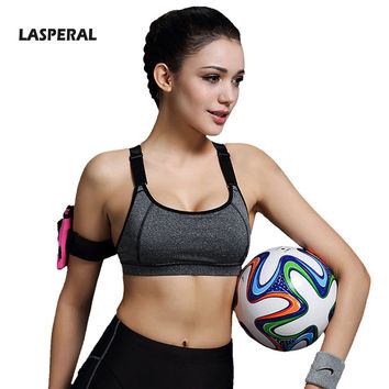 LASPERAL Women Fitness Sports Bra For Running Gym Athletic Bra Padded Push Up Top Sport Bra For Women New Summer 1PC  S-L Size