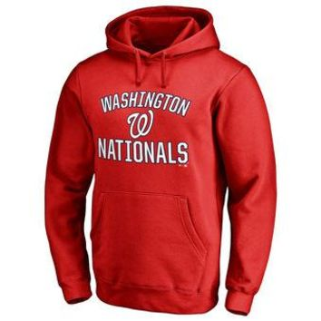 Washington Nationals MLB Red Fastball Fleece Pullover Hoodie