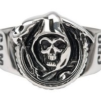 Sons of Anarchy Grim Reaper Skull Stainless Steel Ring - Sons of Anarchy - | TV Store Online