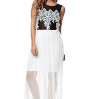 Gala Applique Maxi Dress