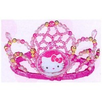"Amscan Hello Kitty 5"" x 3-1/2"" x 6"" Beaded Tiara"