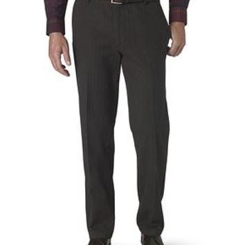 Dockers Signature Khaki Pants, Straight Fit - Black Textured Herringbone - Men's