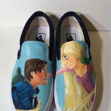 QIYIF tangled custom painted vans keds converse etc