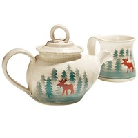 Oregon Cascade Handcrafted Moose Tea Set