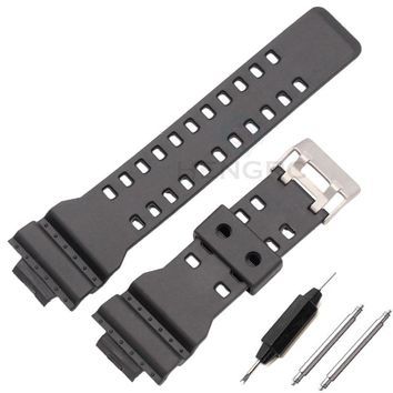 16mm Silicone Rubber Watch Band Strap Fit For Casio G Shock Replacement Black Waterproof Watchbands Accessories