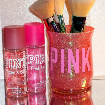 VS Pink Makeup Brush Holder - YOU CUSTOMIZE!