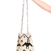 Vintage Put a Bird on It Bucket Bag