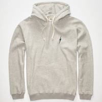 Lightning Bolt Fleece Mens Hoodie Heather  In Sizes