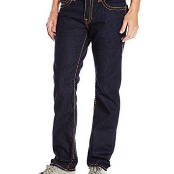 True Religion Men's Ricky Relaxed Straight Super T with Flaps, Body Rinse, 31