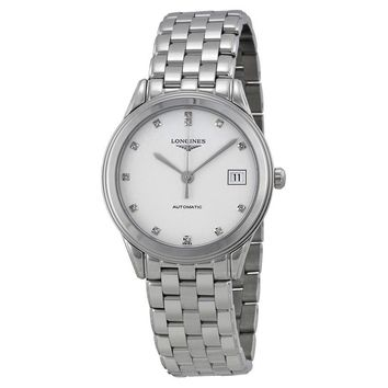 Longines Flagship White Diamond Dial Automatic Mens Watch L4.774.4.27.6