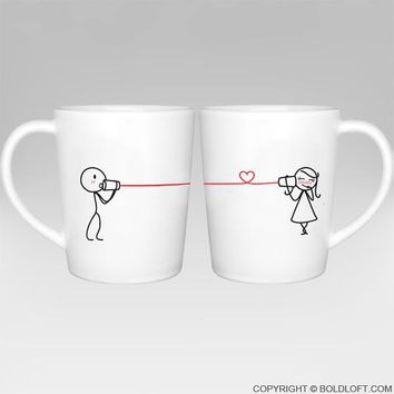 Say I Love You® Couples Matching Coffee Mugs, Gifts for Him for Her,Christmas Gifts for Boyfriend for Girlfriend,His and Hers Gifts for Couples