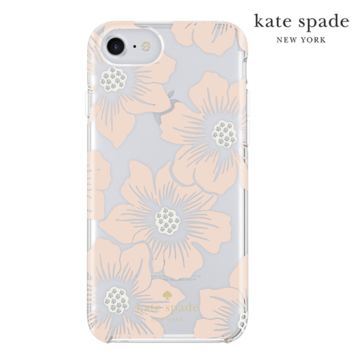 iPhone 7 Kate Spade Hollyhock Flower Case, Peach/Clear