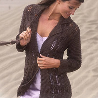 Knitted cardigan Summer cardigan knitted jacket brown sweater long sleeves cardigan black jacket CHOICE of COLORS pink cardigan Drops Lilith