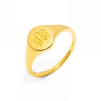 Oval Signet Ring - Size 7
