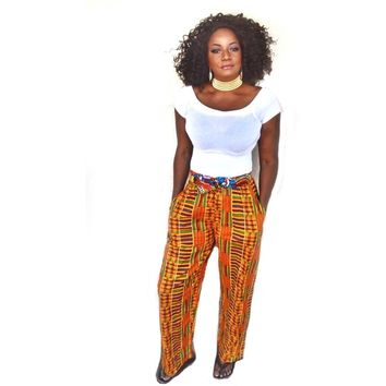 KUMA Kente Traditional  Print Pants