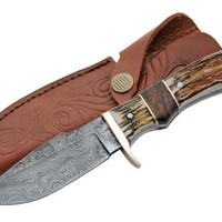 Real DAMASCUS Steel Hunting Knife