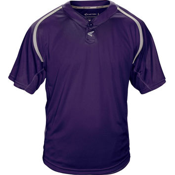 Easton M7 Homeplate Two-Button Baseball Jersey - Purple Gray