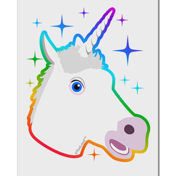 "Magical Rainbow Sparkle Unicorn Aluminum 8 x 12"" Sign"