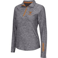 Colosseum Athletics Women's Texas Longhorns Heathered Grey Studio III Quarter-Zip Long Sleeve Performance Shirt | DICK'S Sporting Goods