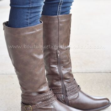 EACH NEW DAY TALL BOOT IN BROWN