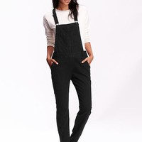 Old Navy Womens Black Overalls