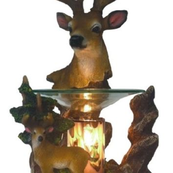 Buck Deer Table Fragrance Aroma Lamp Oil Diffuser Wax Tart Candle Warmer Burner Home Decor
