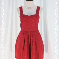 Winter Love Song - New Every Seasons Dress Dark Burgundy Pastel Playful Petite Hearts Print All Over S-M