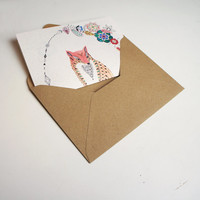 Letter Writing Set - Be Leaf Fox Design