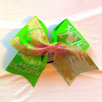 Worlds/Summit Disney Tinker Bell Inspired Cheer Bow or Hair Bow