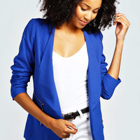 Tania Zip Pocket Waterfall Blazer