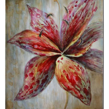 Painted Wall Art - Lily Flower Themed
