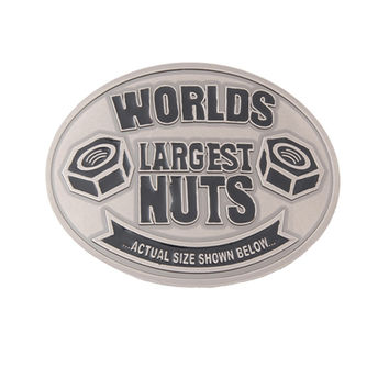 Worlds Largest Nuts Belt Buckle