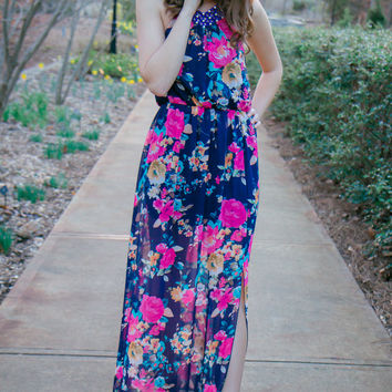 Floral Wave Dress - Final Sale