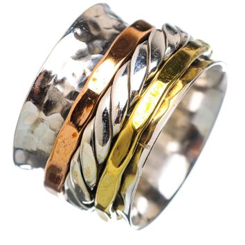 Spinner Ring - Three Tone Rope Band