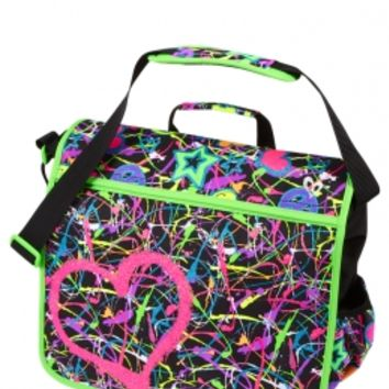 Glitter Graffiti Messenger Bag | Girls Backpacks & School Supplies School Uniforms | Shop Justice