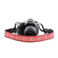 Bandana Red 1.5In Camera Strap - Capturing Couture - CASLR15-BDRD