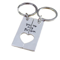 You're My Person Keychain Set