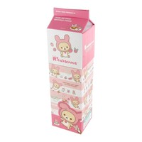 Rilakkuma Hard Paper Milk Pack Pencil Case - Soft Pink
