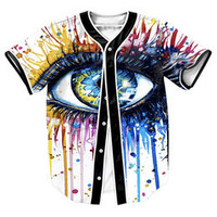 """  Eye Wonder "" 3D BASEBALL JERSEY"