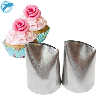 LINSBAYWU #874 Large Flower Petal Cream Icing Piping Nozzles Fondant Cake Decorating Tips Baking Tools For Cupcakes