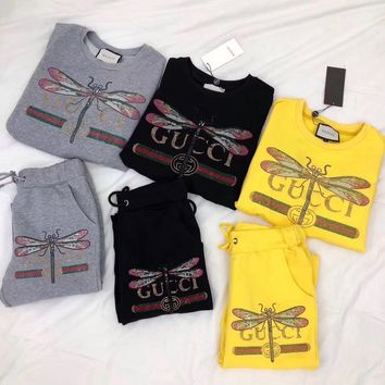 GUCCI  dragonfly Sweater suit