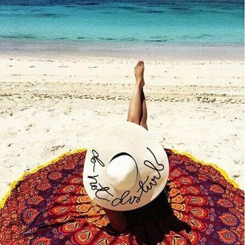 ESBU3C 1Pc Free Shipping New Brand Toallas Beach Towel Luxury Large Size Round Hippie Tassel Tapestry Beach Throw Mandala Towel
