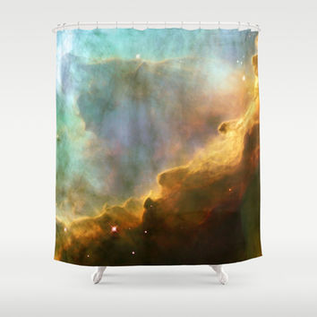 Bright nebula galaxy stars sagittarius constellation hipster geek cool space star nebulae NASA photo Shower Curtain by iGallery