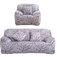 Slipcover Printed Sofa Furniture Cover Slip-resistant Cloth Art Spandex Stretch Sofa Cover for Single/Two/Three/Four-seat Sofa