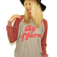 Wildfox Ay Mama Mia Kim Sweater in Vintage Lace | Boutique To You