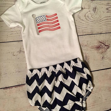Monogrammed Body Suit,Fourth of July,Patriotic Baby Clothes,Personalized Baby Clothes,Baby Shop,American Flag
