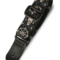 Paper Jamz Guitar Straps - Skull and Compass