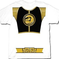Power Rangers White Ranger Falcon Costume Adult White T-Shirt