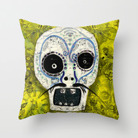 Dia de los Muertos Throw Pillow by Silva Ware by Walter Silva