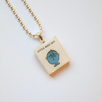 Little Miss Shy Scrabble Pendant on 18 inch silver ball chain
